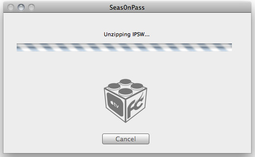 Unzipping IPSW File