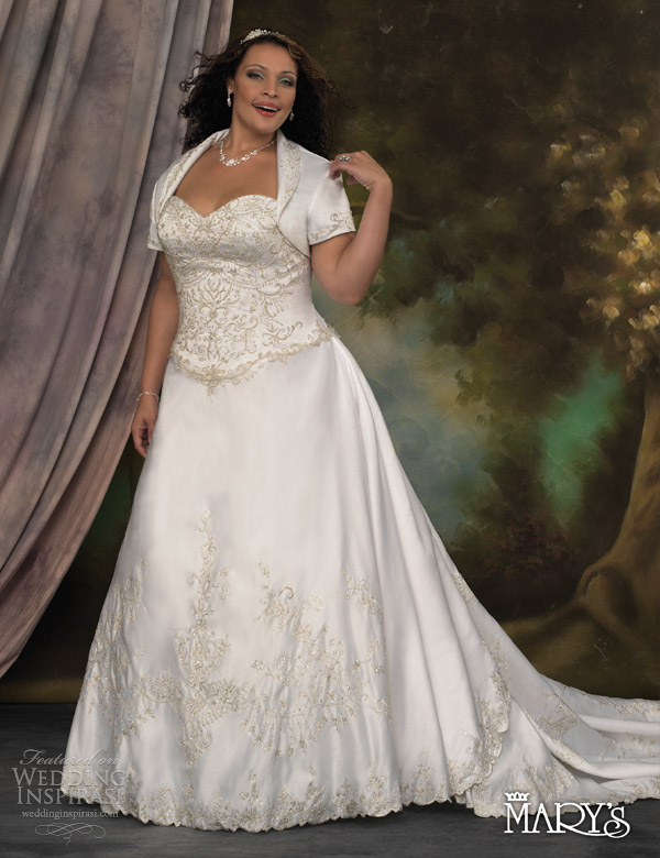 Timeless Plus Size Bridal Wedding Gown 2013
