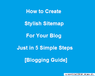 steps to create sitemap for blog
