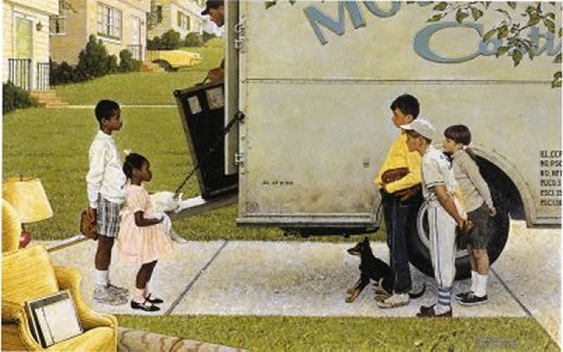 Us slave southern justice mississippi murder by norman rockwell
