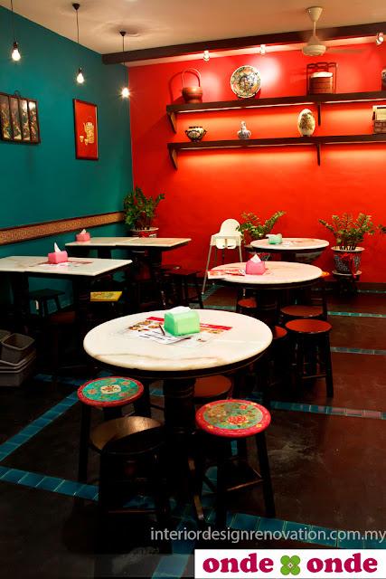 dining area nyonya restaurant interior designer kuala lumpur desa park city