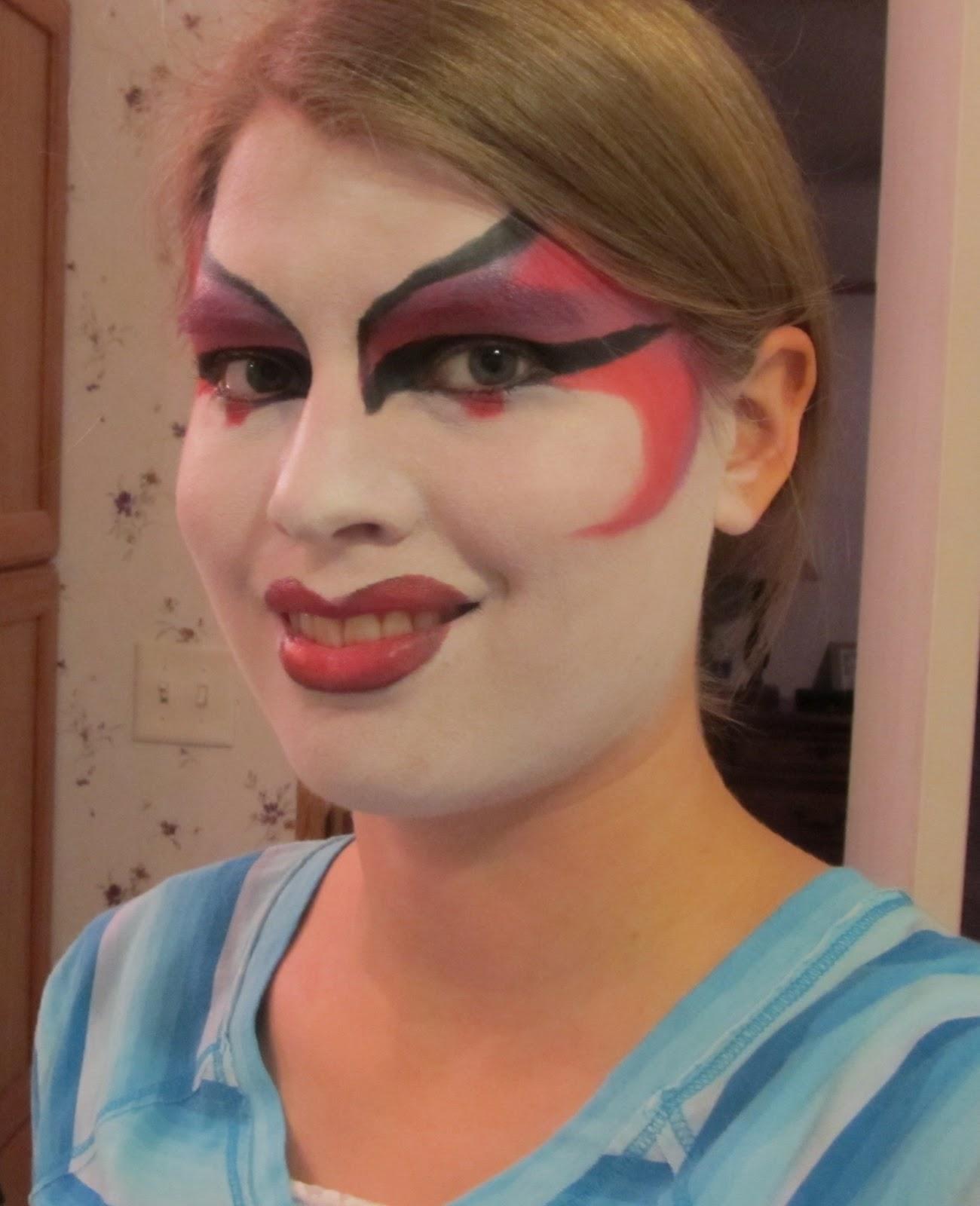 my hand at theater makeup i chose to do a geisha girl with a kabuki ...