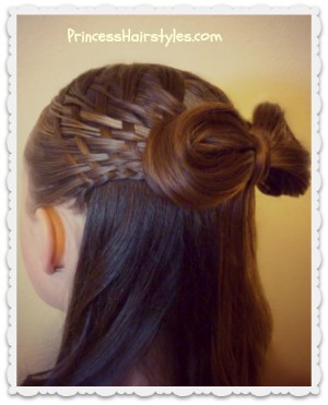 Recent Favorite Hairstyle Tutorial - Woven Half Up With Bow