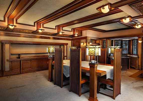 Frank Lloyd Wright Interior Designs