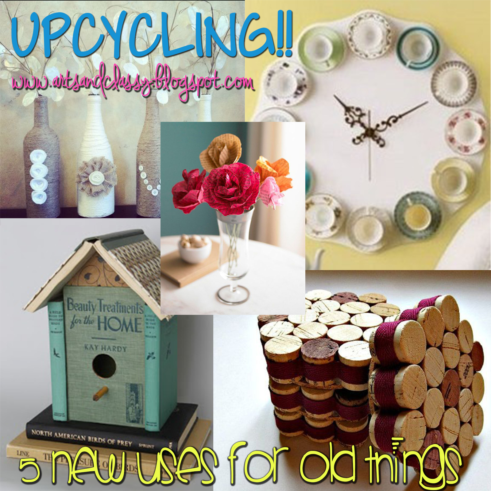 Upcycling Ideas for Home - 5 New Uses For Old Things | Arts and Classy