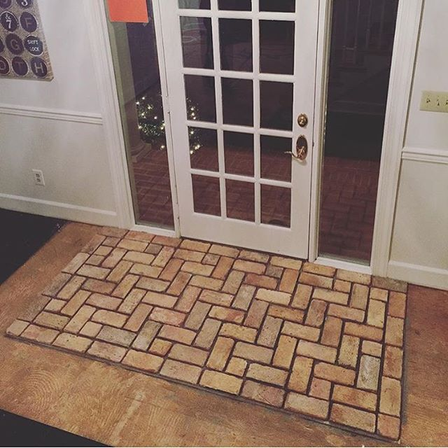 Vintage Reclaimed Brick Tiles Front Door Entry