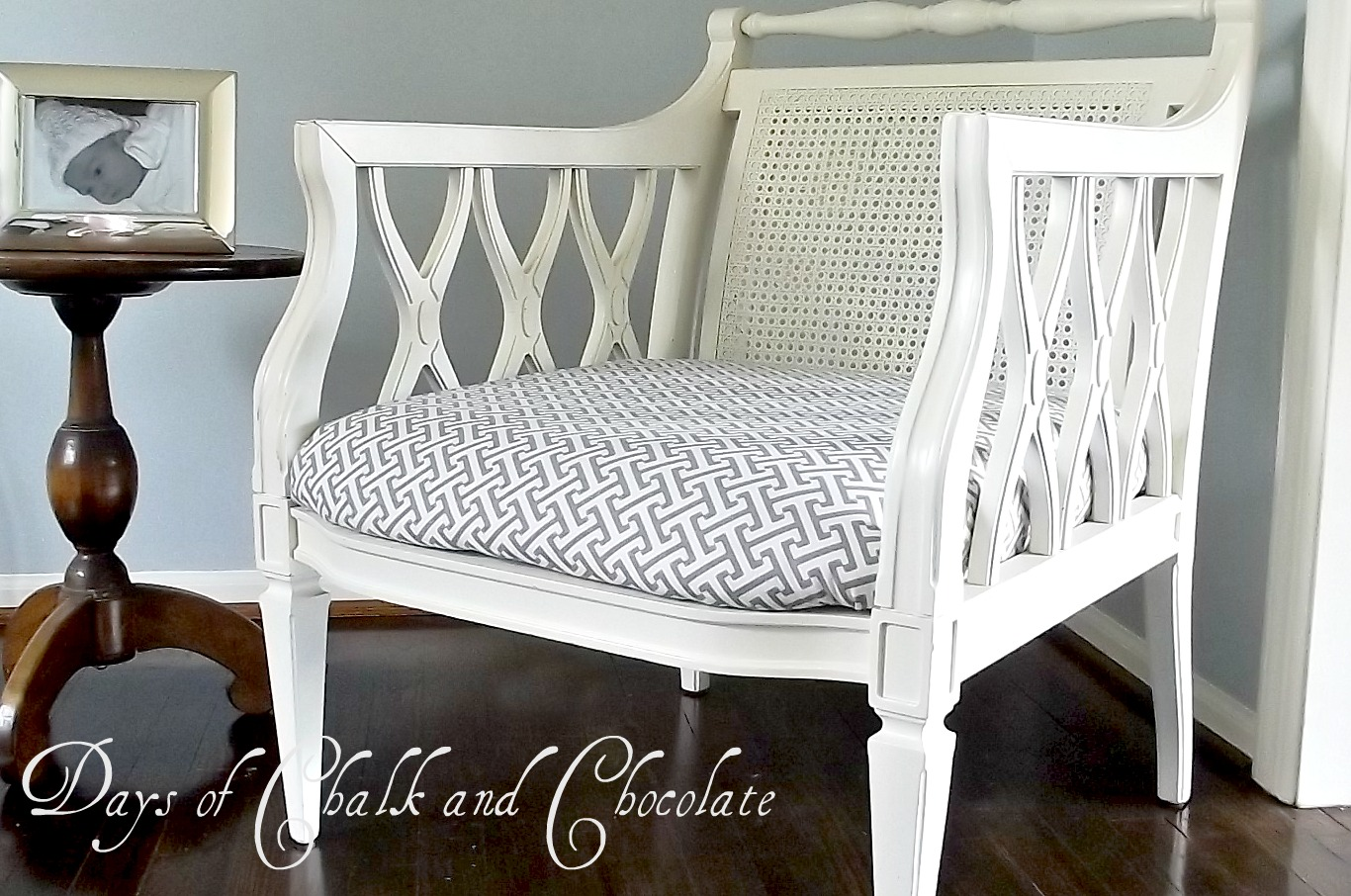 How To Reupholster A Chair Seat Days Of Chalk And Chocolate