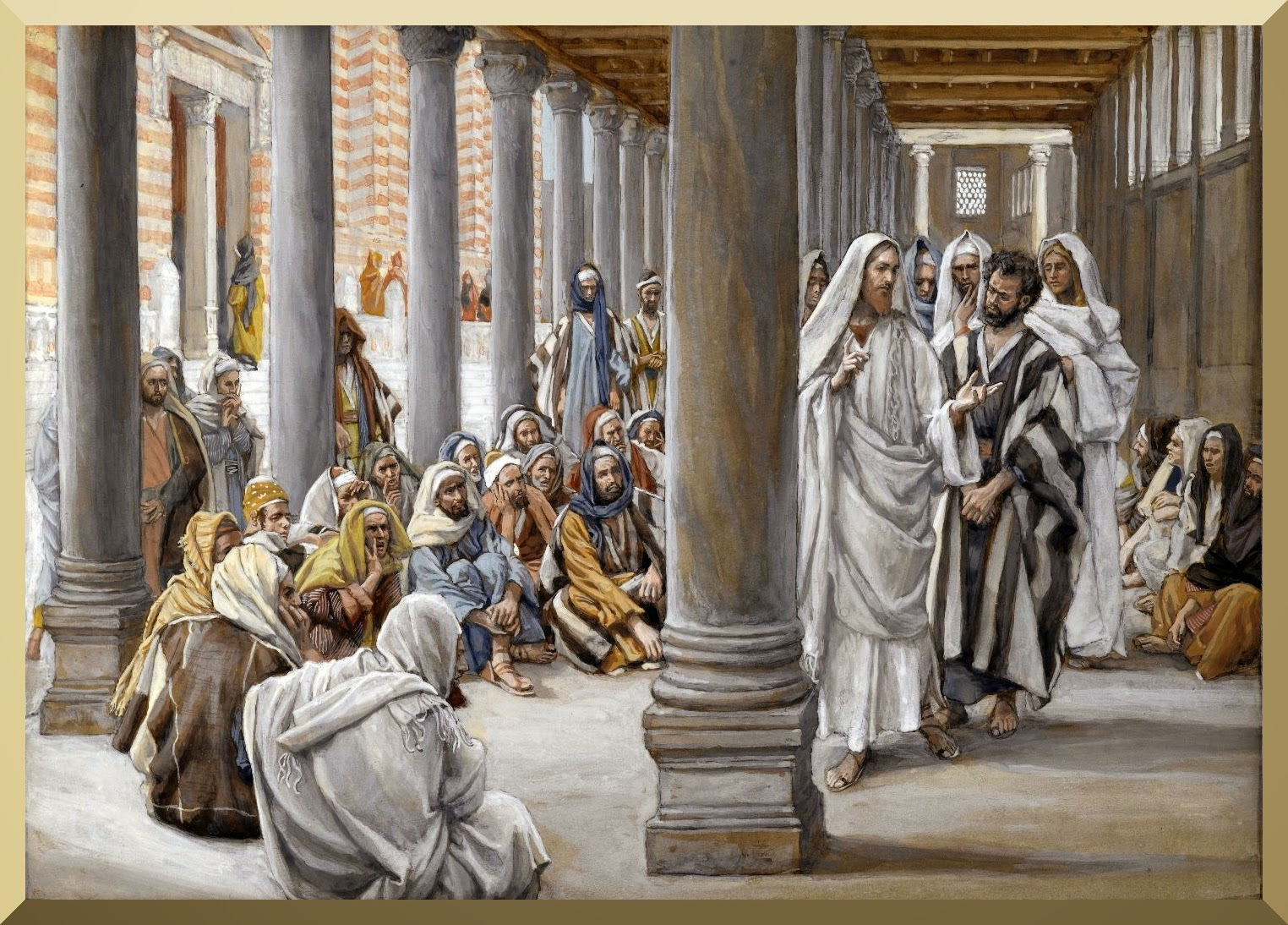 """Jesus Walks in the Portico of Solomon"" -- by James Tissot"