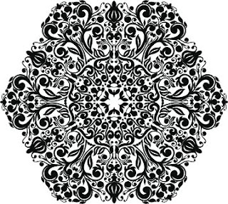 Flower Circle Black