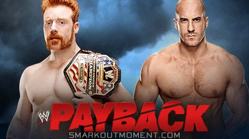United States Championship Cesaro vs Sheamus Payback 2014 Event