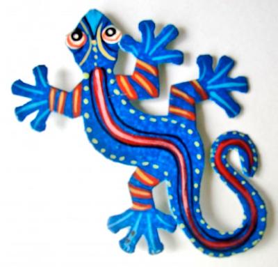 blue lizard refrigerator magnet