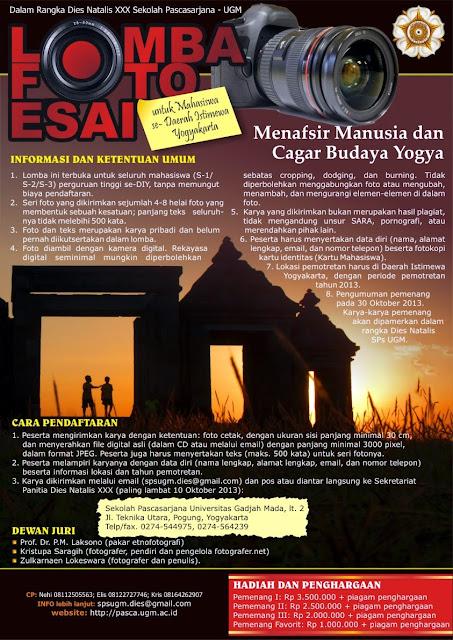 Lomba Foto Esai Pasca Sarjana UGM Yogyakarta