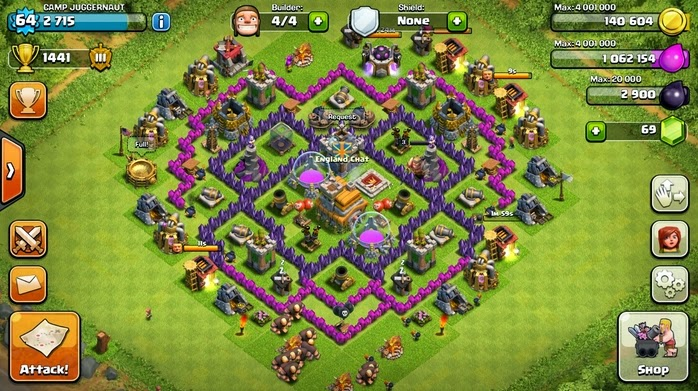 3 Contoh Defense Clash Of Clans Town Hall Level 7 Terkuat