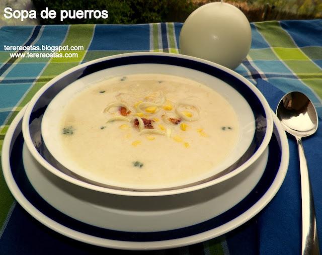 Sopa de puerro (ajoporro).