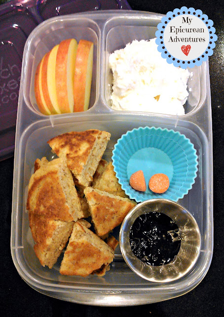My Epicurean Adventures: #MOMables' Perfect Pancakes with Blueberry Syrup in #Easylunchboxes