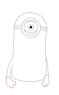 How To Draw Despicable Me Minon Step 5