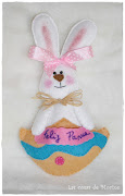 Conejito de Pascua. ¿Os apetece hacer este conejito de fieltro con nosotras? conejo de pascua
