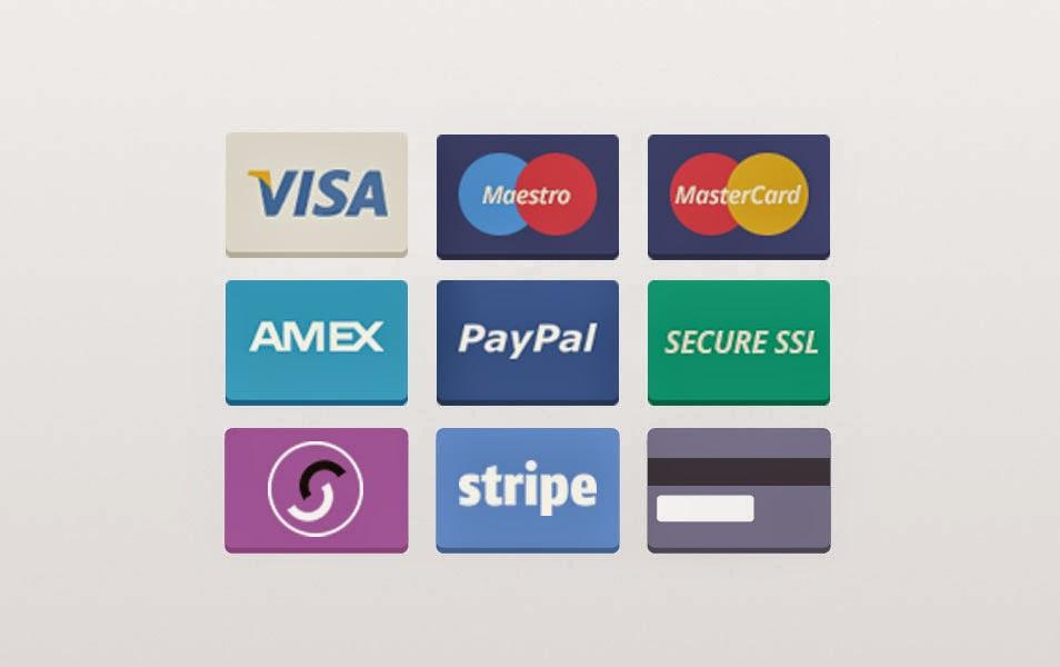 Flat Payment Cards psd