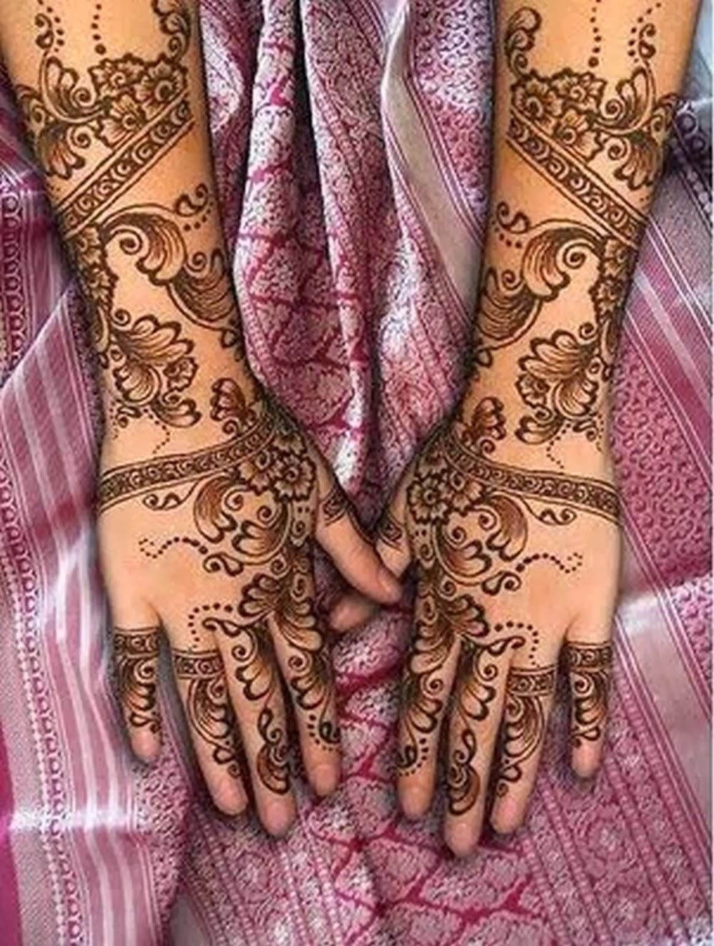 Mehndi Hairstyles 2014 : Latest mehndi henna designs for indian and pakistani