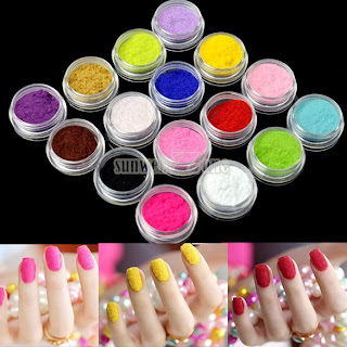 S0BZ New Tips Fuzzy Flocking Velvet Nail Powder Nail Art Tools 16 Colors+Tweezer