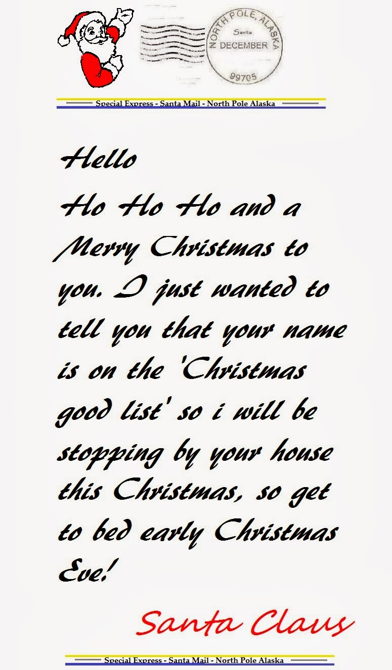 This is a graphic of Intrepid Free Printable Letters From Santa North Pole