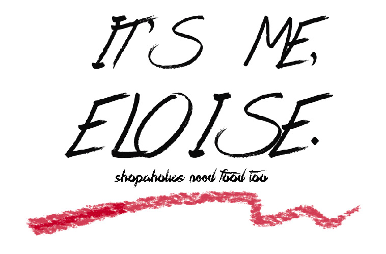 It's me, Eloise.