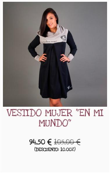 Vestido para mujer de algodón BIO y elaborada en España Bichobichejo