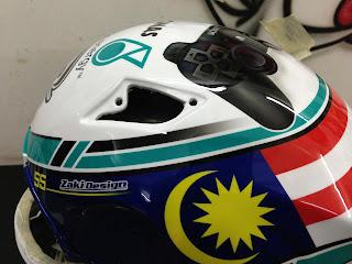SUPERBIKEMALAYSIA: Hafizh's new helmet
