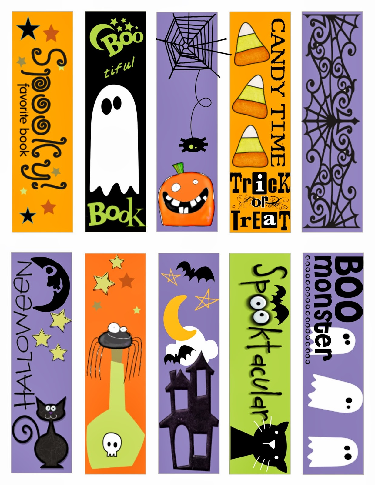halloween bookmarks template for microsoft publisher image pictures