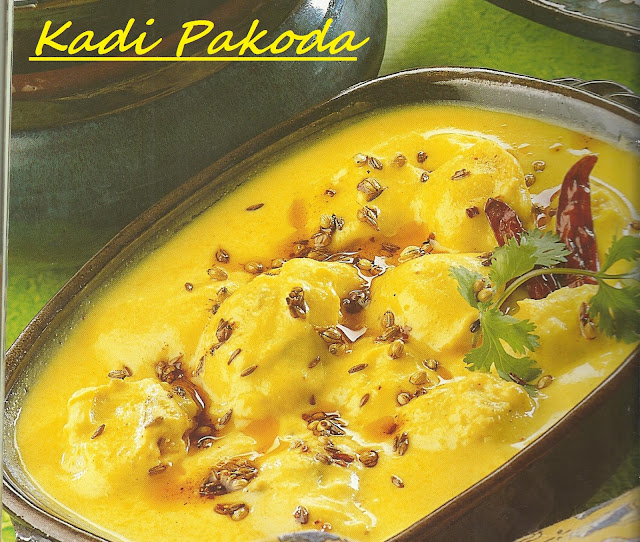 Kadi Pakora in Microwave