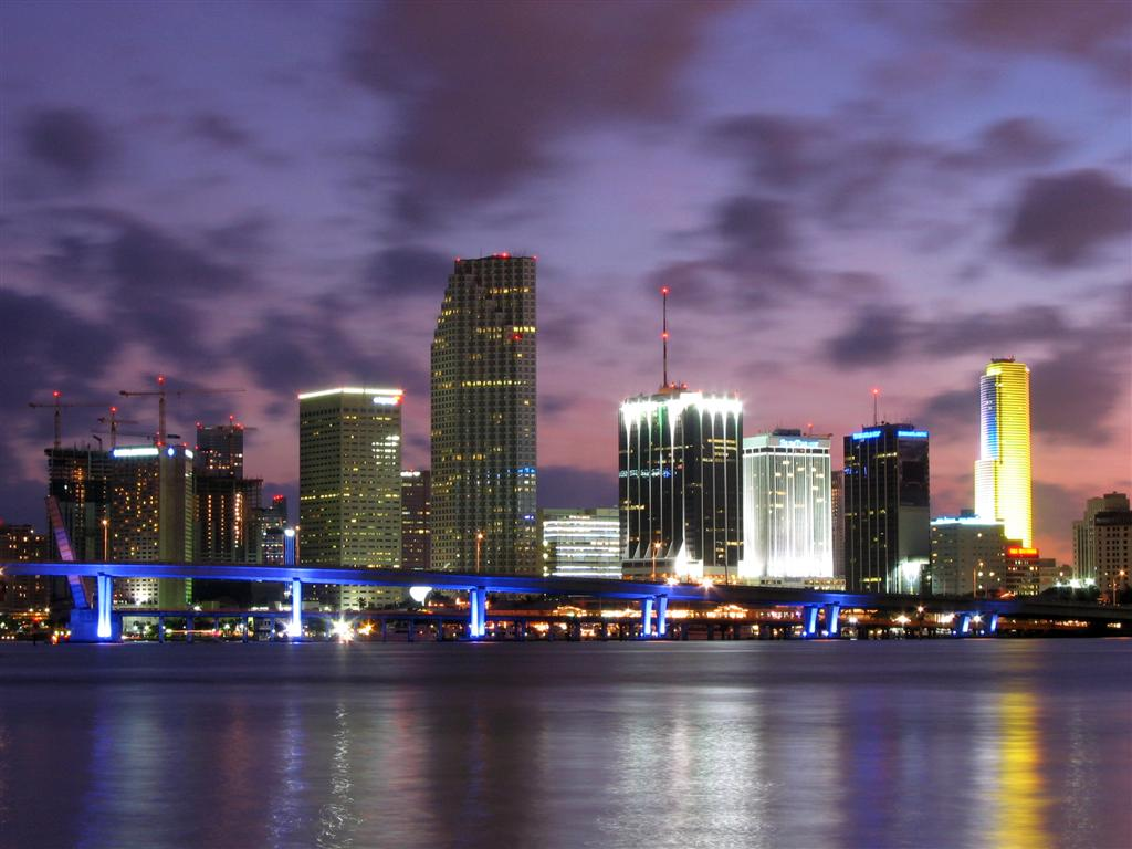 World most popular places miami beach florida skylines for Us city skylines photos