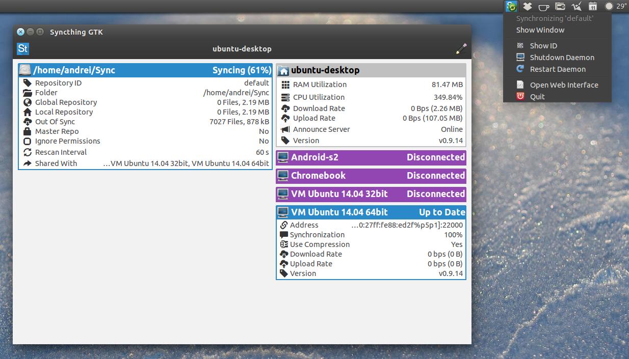 syncthing gtk  gtk3  u0026 python gui for syncthing  ubuntu ppa