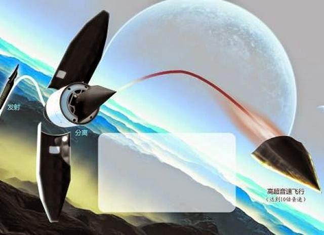 الصين تختبر صاروخا خارقا بسرعة تفوق سرعة الصوت بـ 10 أضعاف China_has_conducted_second_flight_test_of_of_its_new_WU-14_hypersonic_glide_vehicle_HGV_640_001