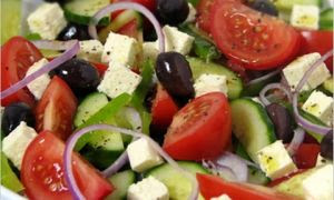 Greek Salad and food