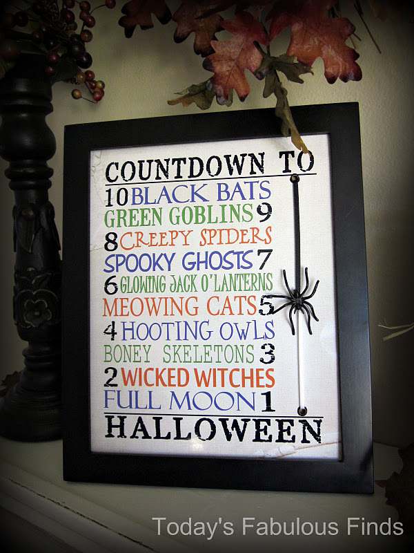 Today's Fabulous Finds: 10 Minute--10 Day Halloween Countdown