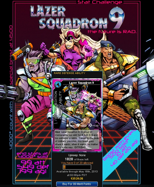 Lazer Squadron 9 at Superhero City