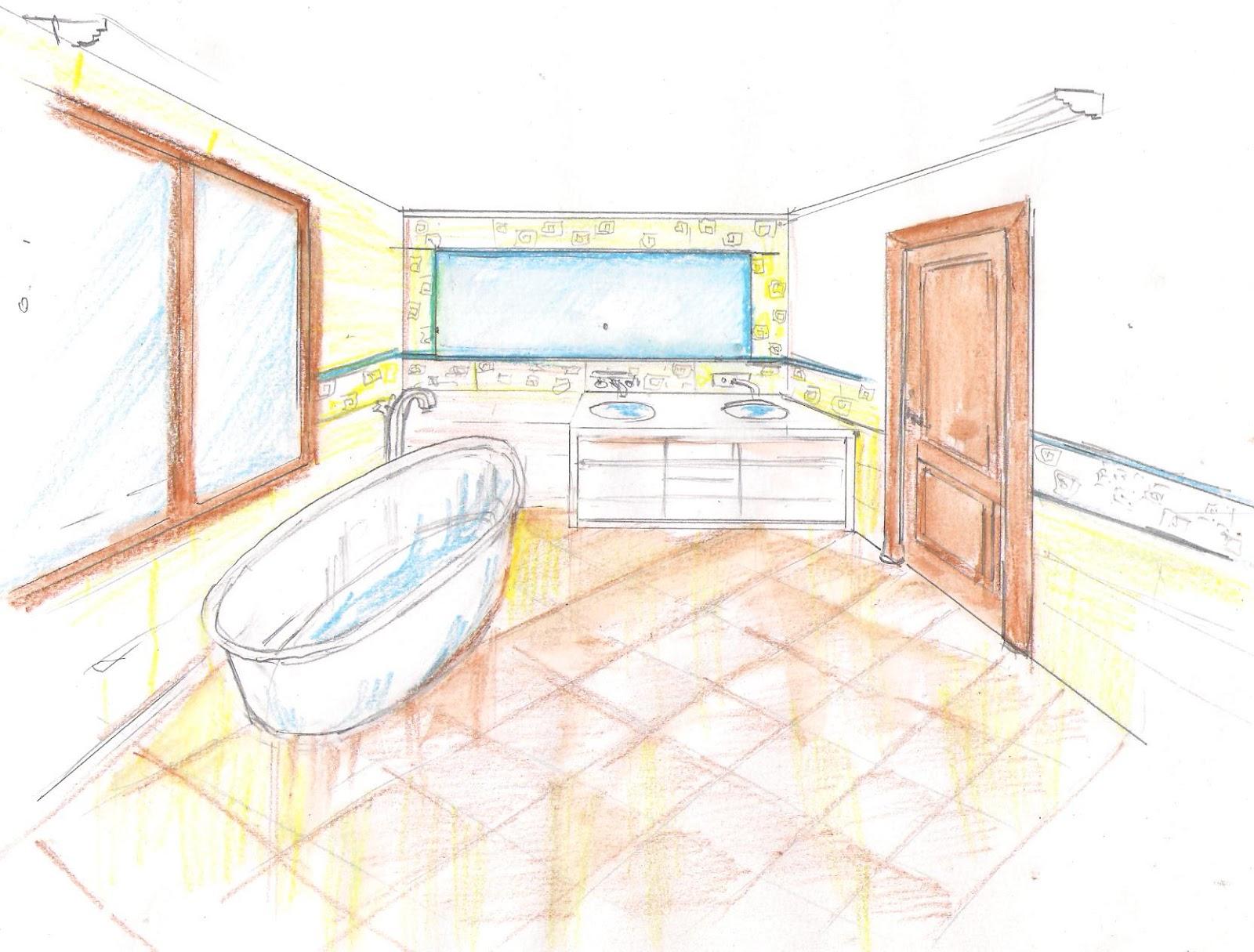 Interiorismo y decoracion lola torga dise o de un ba o principal de un chalet - Boceto interiorismo ...