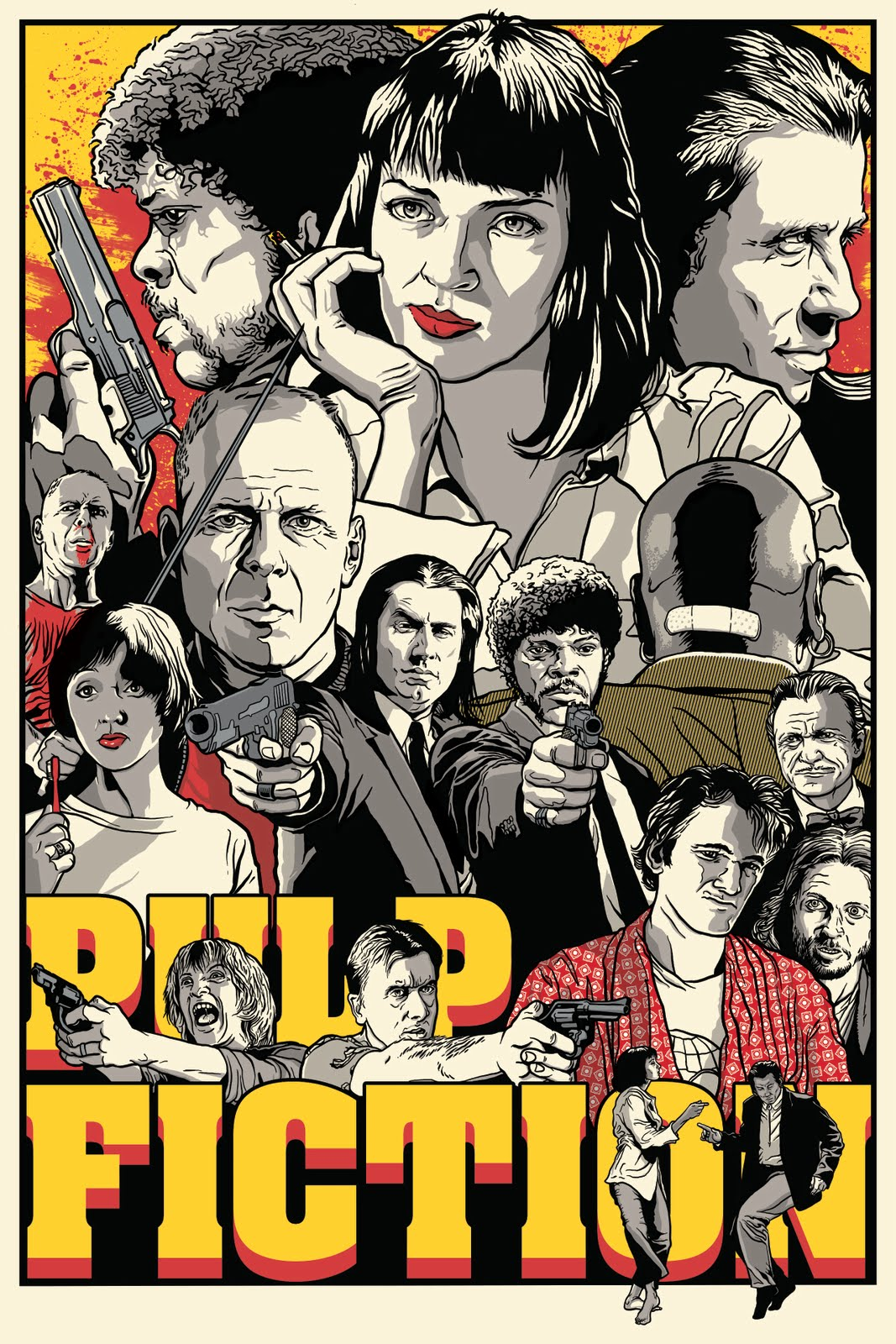 Joshua budich pulp fiction poster now