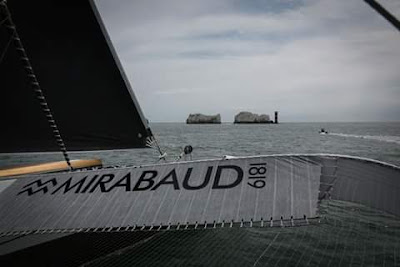 A bord de Spindrift 2 pendant la Rolex Fastnet Race.