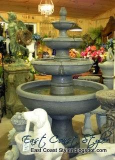 antique garden fountain