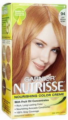 GARNIER strawberry blonde hair dye