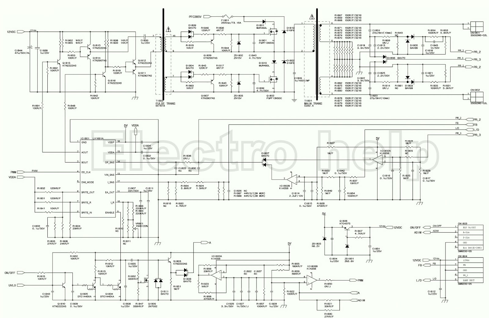 Samsung Tu40eo Led Lcd Tv Power Supply - Schematic