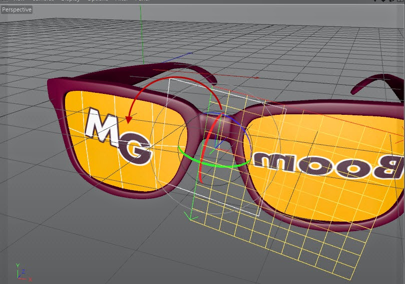 Texture + Render Retro plastic glasses in C4D  08