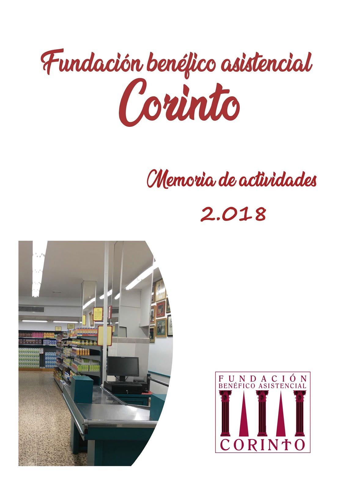 Fundación Corinto. Memoria 2018
