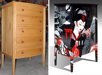Segundo aire a muebles viejos redecoración estilo Japonés