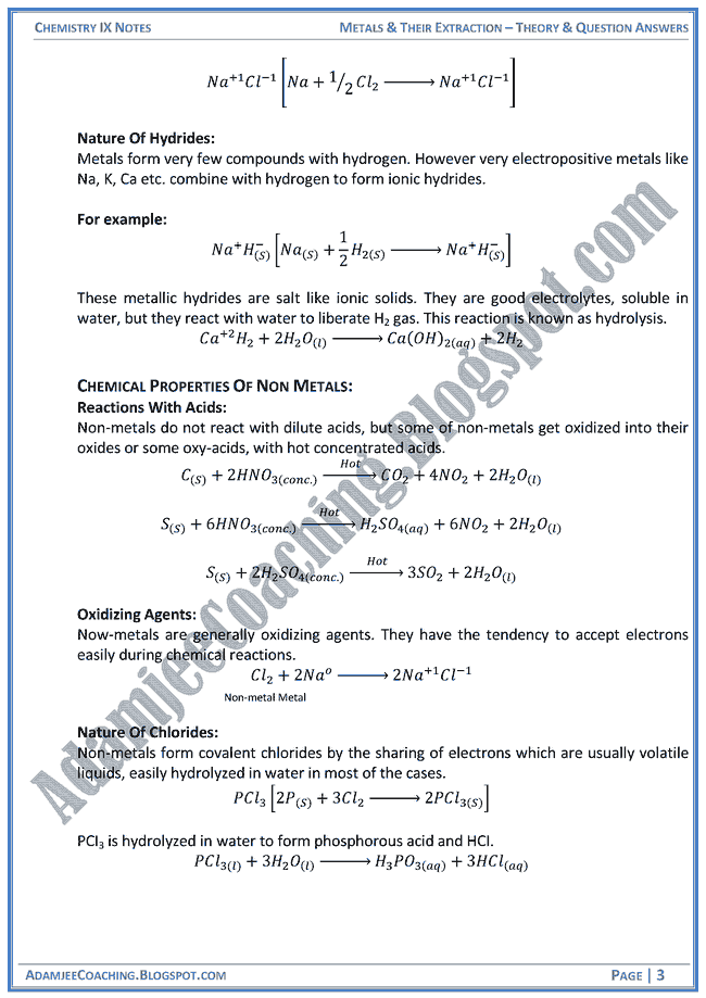 metals-and-their-extraction-theory-notes-and-question-answers-chemistry-ix