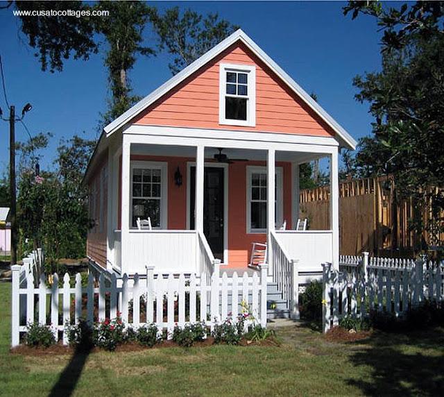 Casa pequeña de madera norteamericana