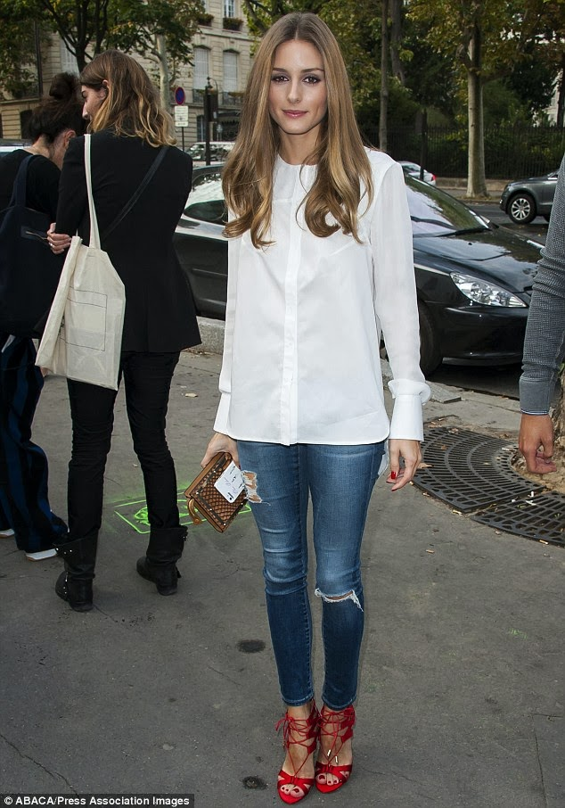 celeb diary olivia palermo paris fashion week. Black Bedroom Furniture Sets. Home Design Ideas