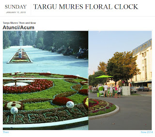 Targu Mures Then and Now - Floral Clock