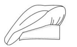 Dibujo y esquema :  Gorro Cocinero - Pastelero - NORVIL